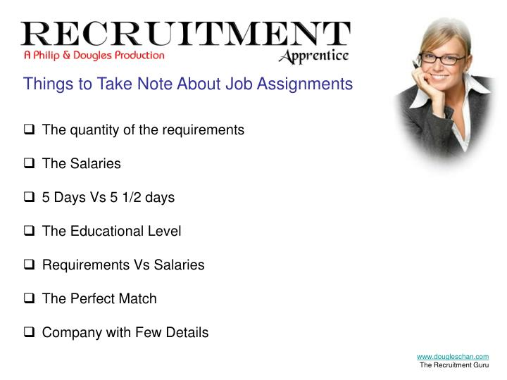 Things to Take Note About Job Assignments
