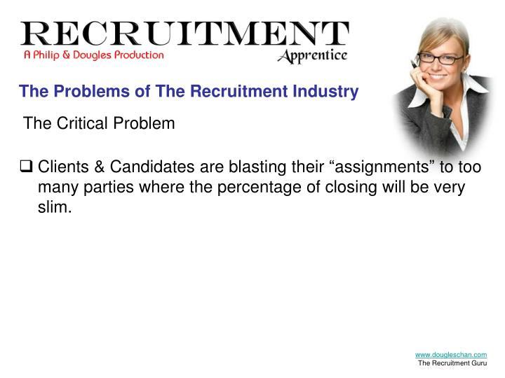The Recruitment Apprentice