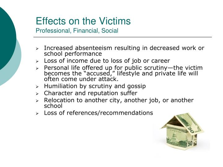 Effects on the Victims