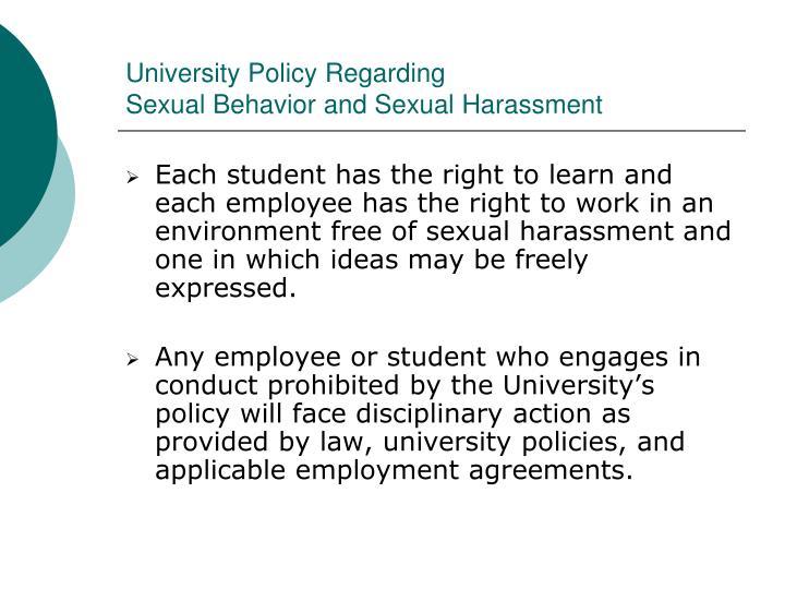 University Policy Regarding