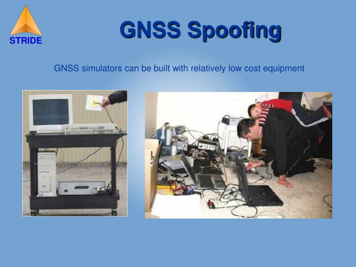 GNSS simulators can be built with relatively low cost equipment
