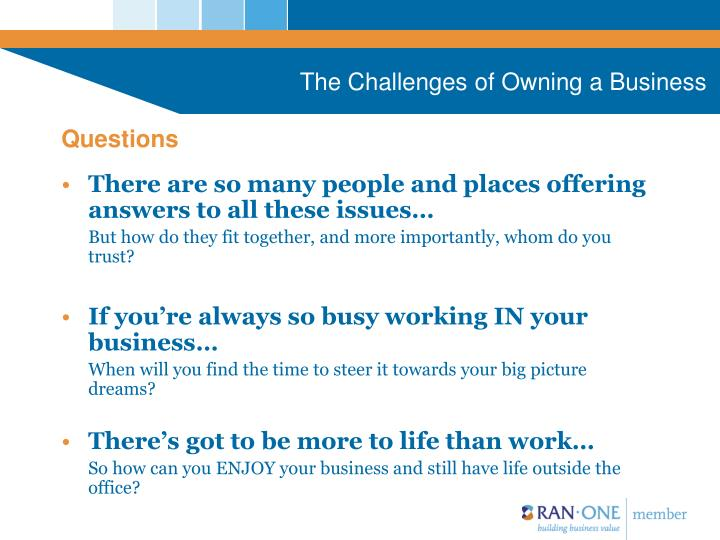The Challenges of Owning a Business