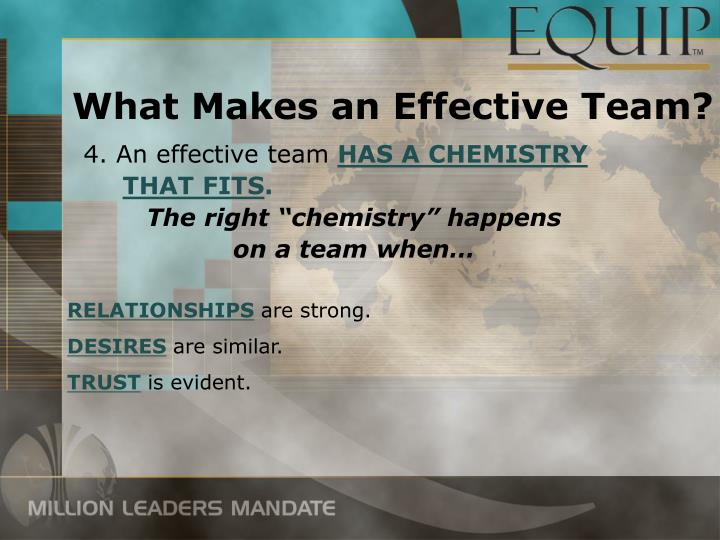 what makes an effective team leader Their job function and for leaders to tap into the effective team 7 10 characteristics of successful teams.