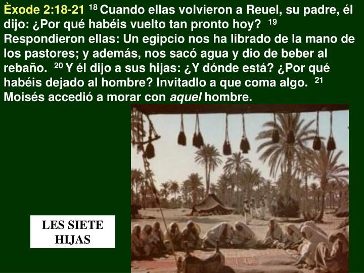 Èxode 2:18-21