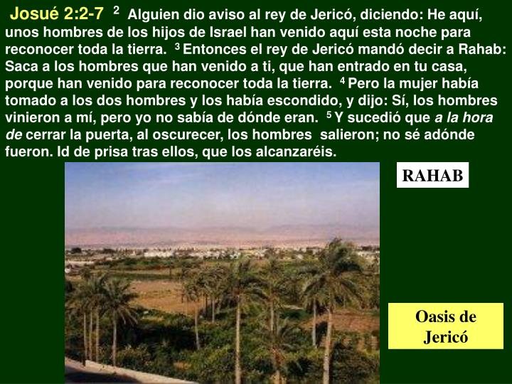 Josué 2:2-7