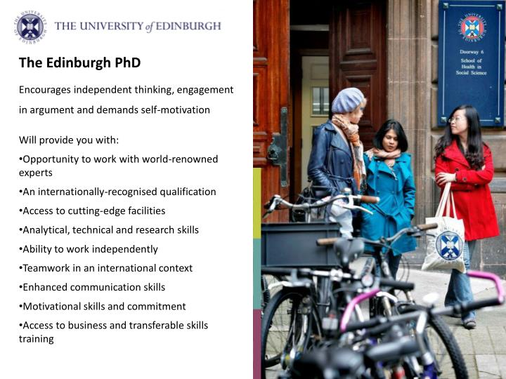 The Edinburgh PhD