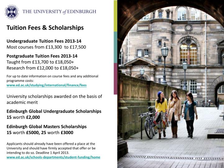 Tuition Fees & Scholarships