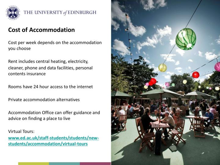 Cost of Accommodation