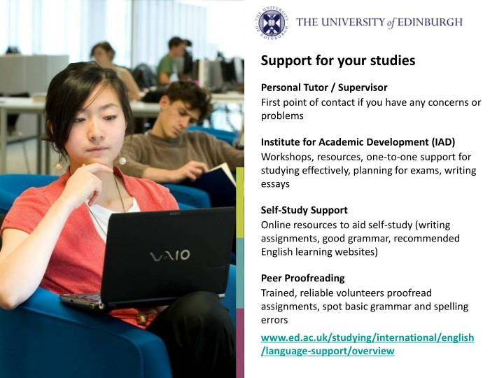 Support for your studies