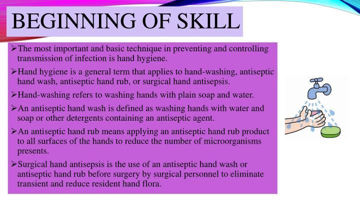 Beginning of skill