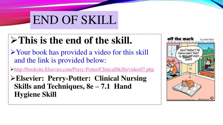 End of skill