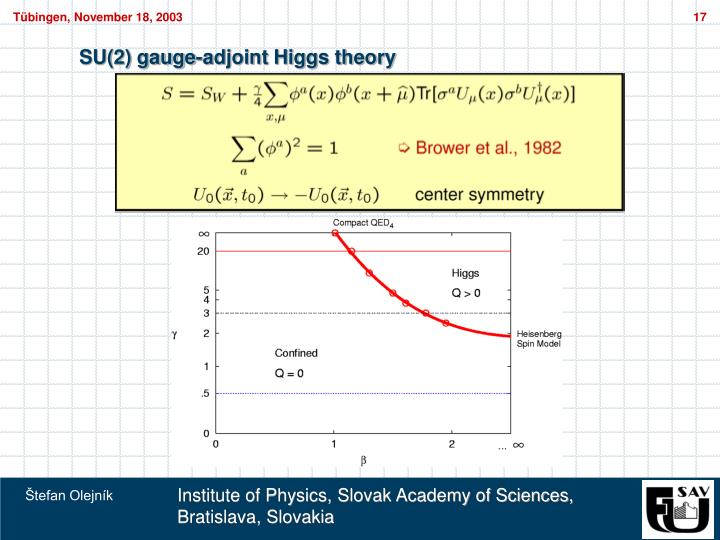 SU(2) gauge-adjoint Higgs theory