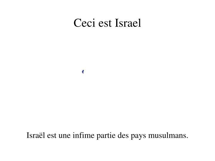 Ceci est Israel