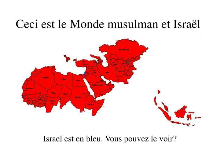 Ceci est le Monde musulman et Israël