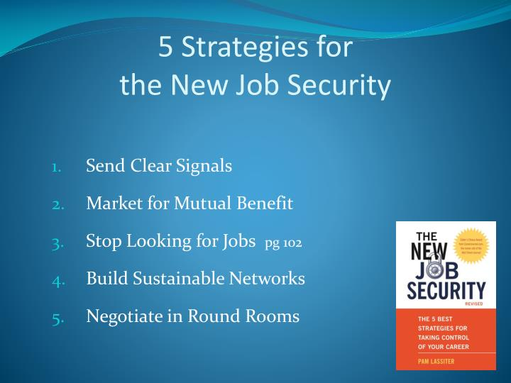 5 strategies for the new job security