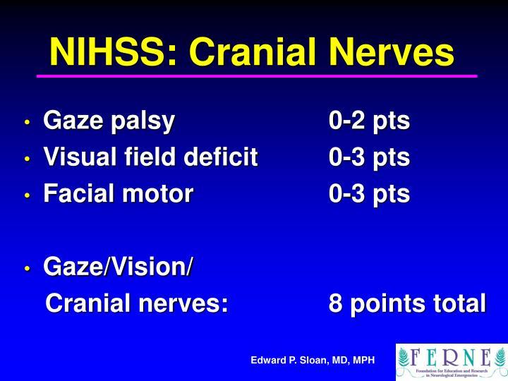 NIHSS: Cranial Nerves