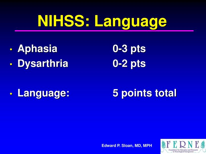 NIHSS: Language