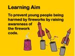 learning aim
