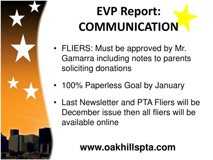 EVP Report: COMMUNICATION