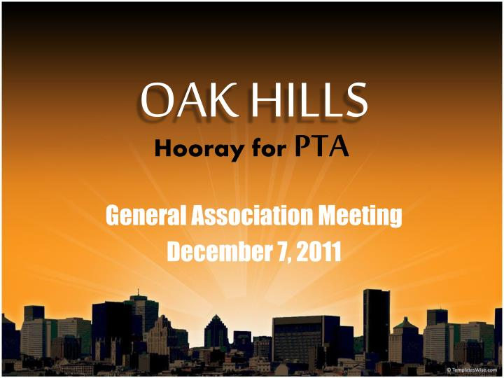 General association meeting december 7 2011