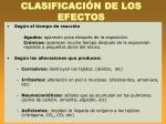 clasificaci n de los efectos