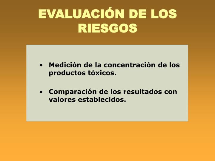 EVALUACIÓN DE LOS RIESGOS