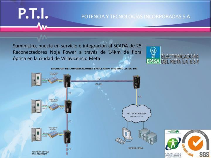 Suministro, puesta en servicio e integración al SCADA de 25 Reconectadores