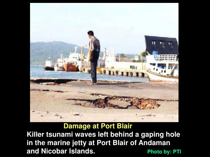 Damage at Port Blair