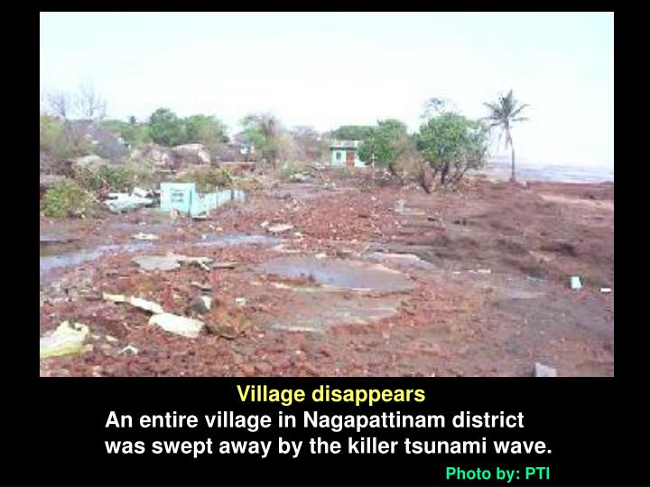 Village disappears