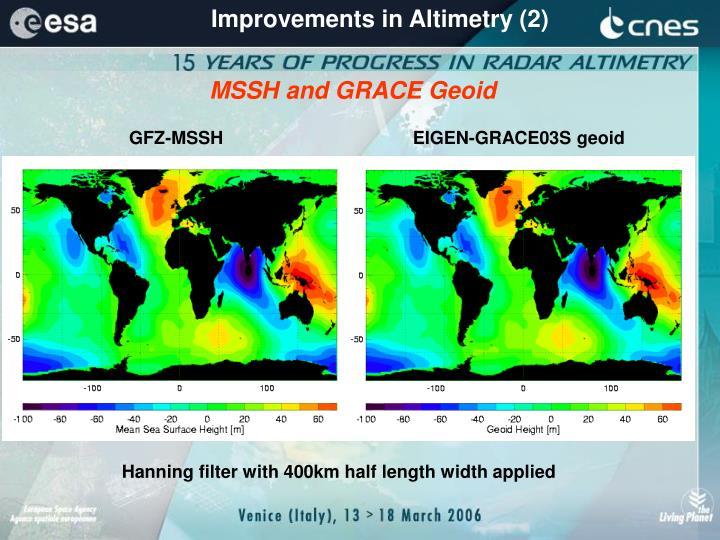 Improvements in Altimetry (2)