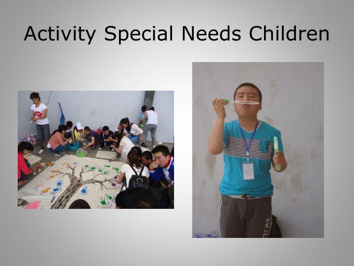 Activity Special Needs Children