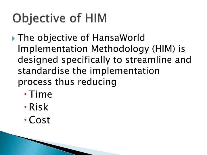Objective of him