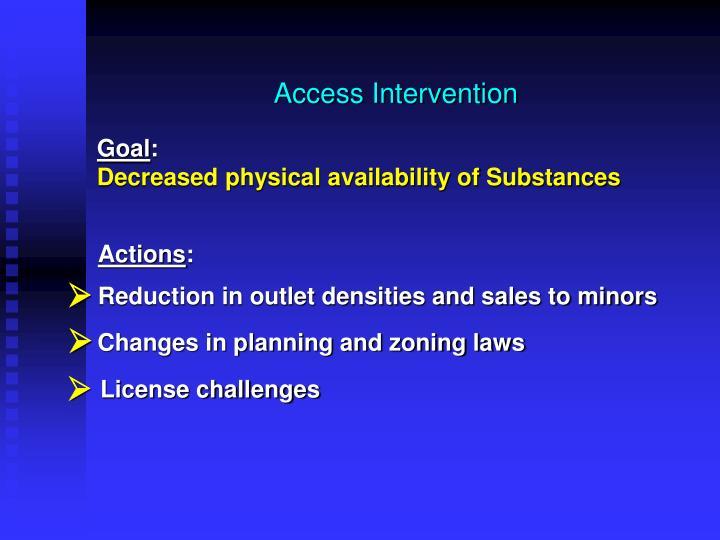 Access Intervention