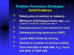 problem prevention strategies solid evidence