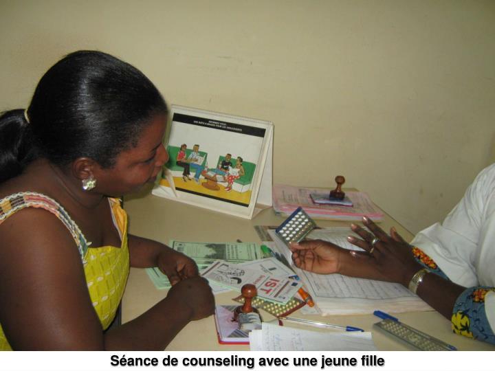 Séance de counseling avec une jeune fille
