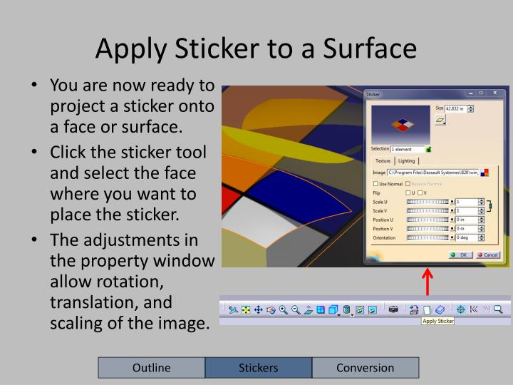 Apply Sticker to a Surface
