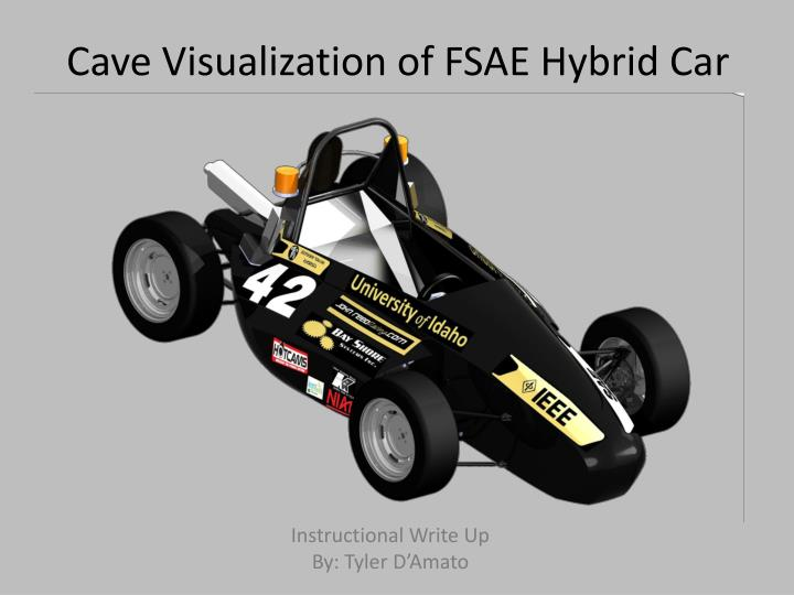 Cave visualization of fsae hybrid car