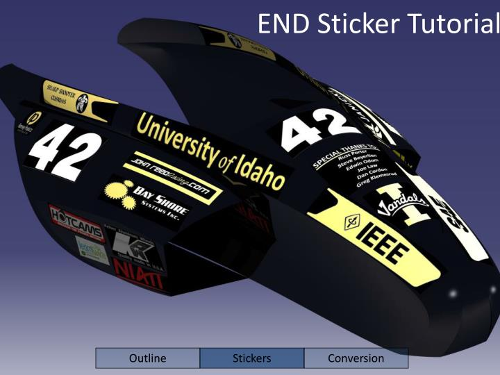 END Sticker Tutorial