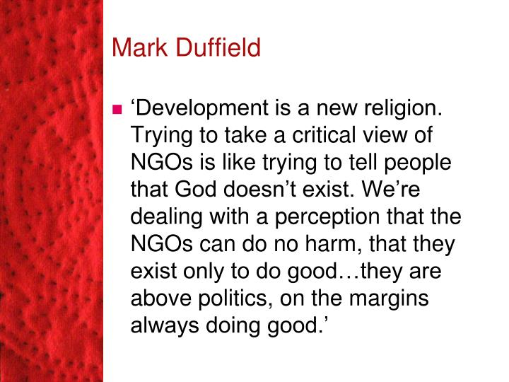 Mark Duffield
