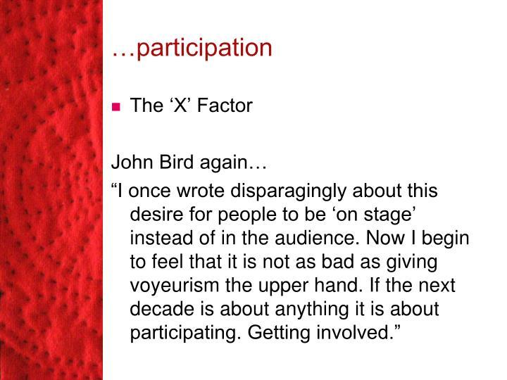 …participation