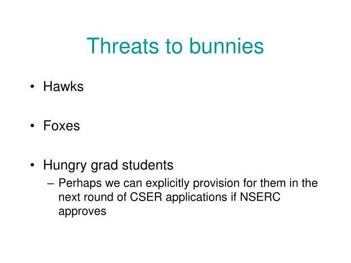Threats to bunnies