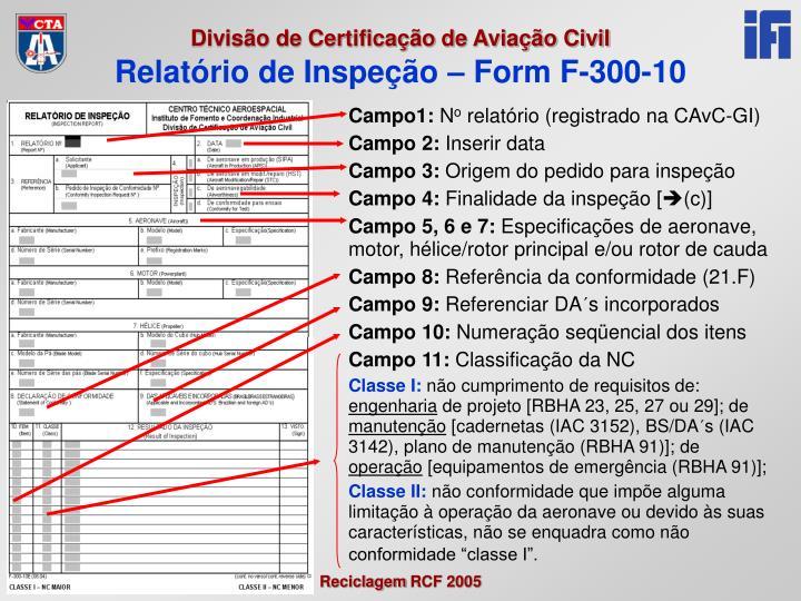 Relatório de Inspeção – Form F-300-10