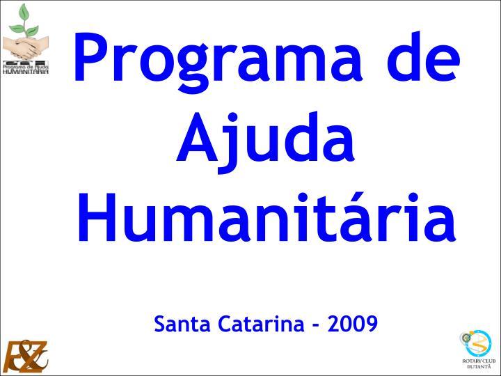 Programa de Ajuda Humanitária