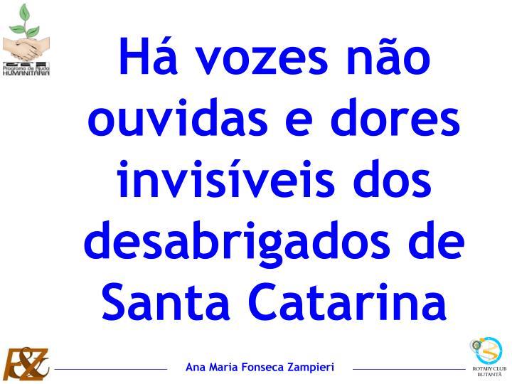 Há vozes não ouvidas e dores invisíveis dos desabrigados de Santa Catarina