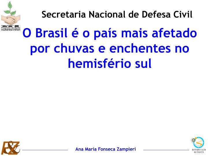 Secretaria Nacional de Defesa Civil