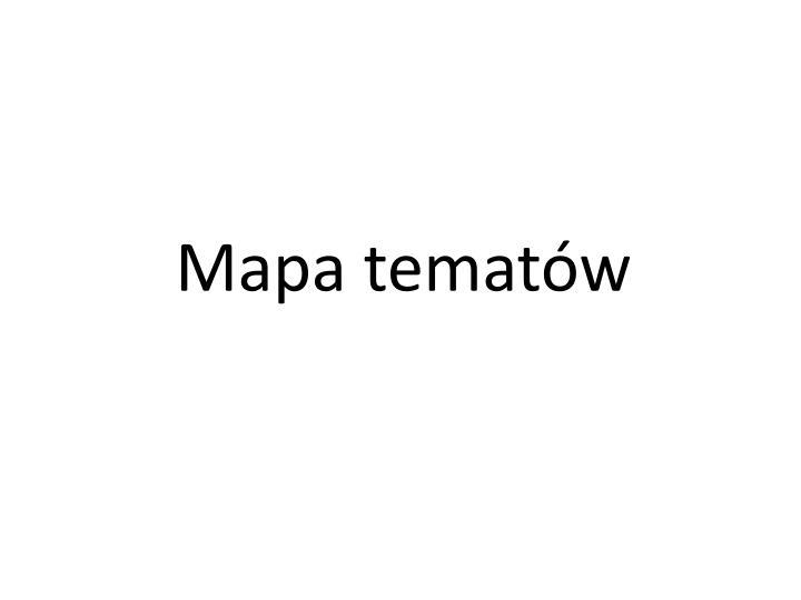 Mapa tematów