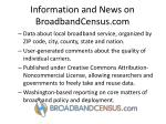 information and news on broadbandcensus com
