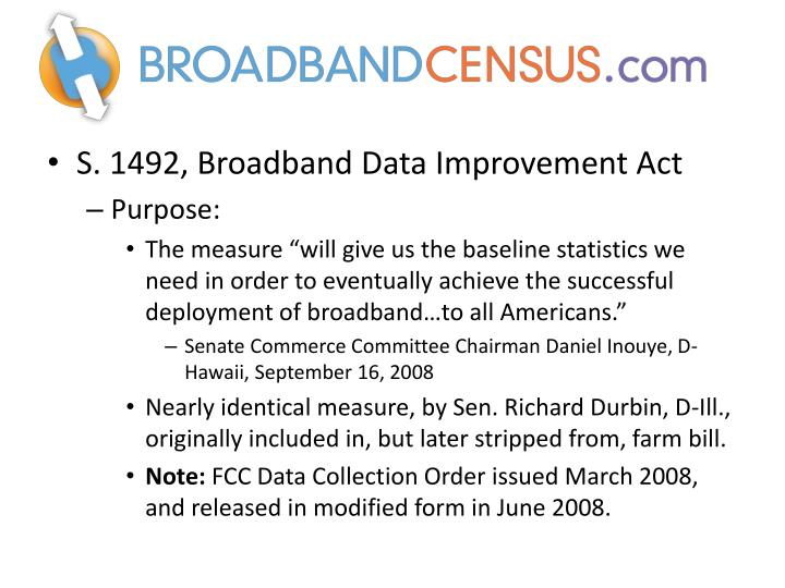 S. 1492, Broadband Data Improvement Act