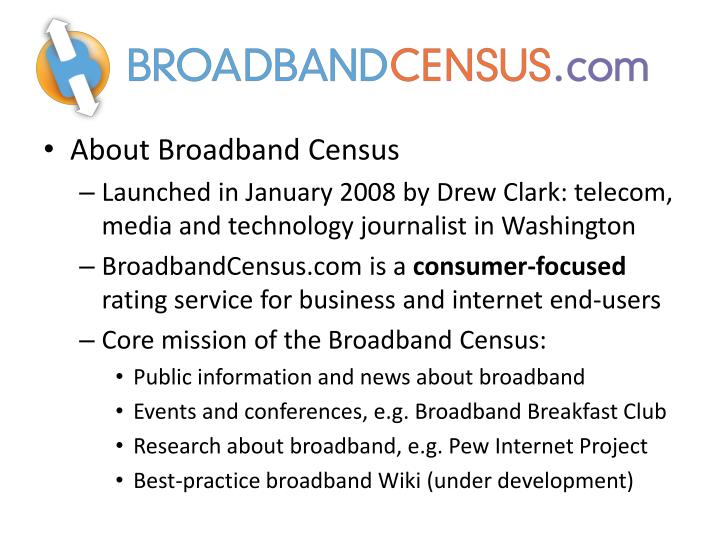 About Broadband Census