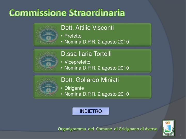 Commissione Straordinaria